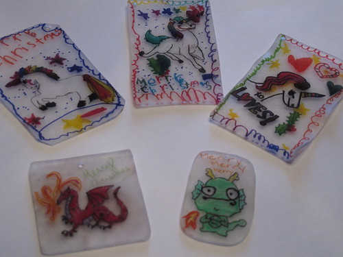 The shrinky dink swap ornaments ...