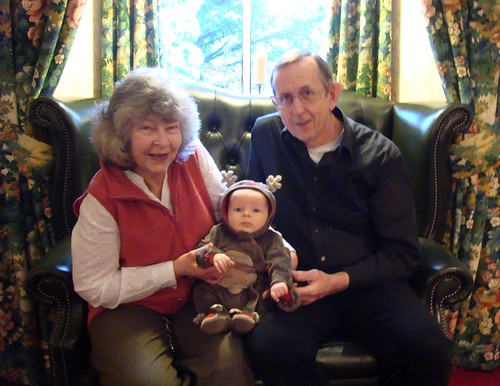 Owen with Granny and Grandad