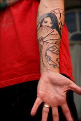 Finally got it! Van tattoo. ^_^ (chanchan222) Tags: snowflake anime tattoo clouds ink drawing akatsuki brucechan danchan danielchan vanchan wwwchanofamericacom brucehsiao chanwaibun