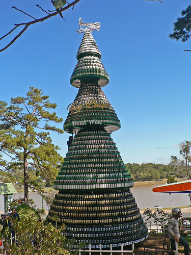 The Dalat wine Christmas tree