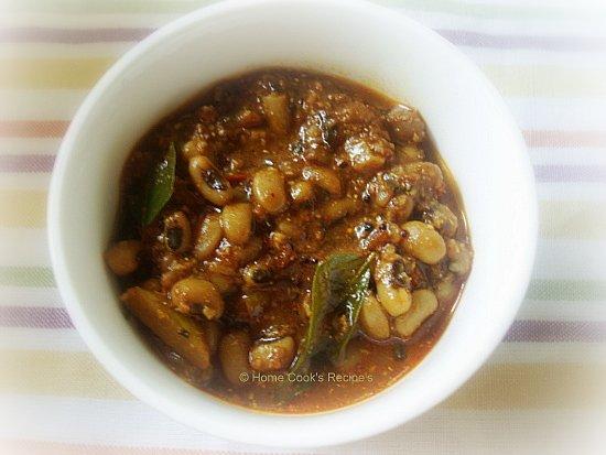 Lobia / Cow Gram Curry / Kaaraamani Kuzhambu