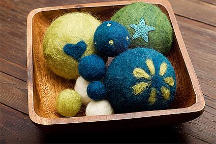 felt balls finished for fiskars