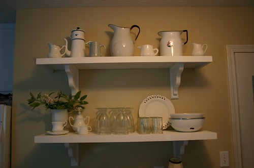 victoria's white shelves