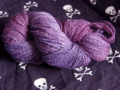 Deep Purple Cotton Sock