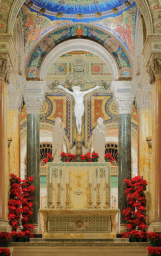 Cathedral Basilica of Saint Louis, in Saint Louis, Missouri, USA - high altar