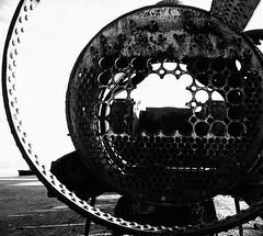 The Furnace Skeleton (Martinho) Tags: bw toronto film beautiful 35mm graffiti spain downtown martin reis bolivia pentaxk1000 nicaragua analogue 1990s streetscenes alleys httpwwwtinoca martinhelmutreis