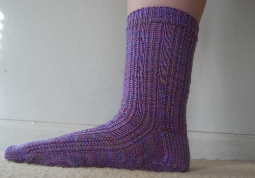 FO: first toe-up sock!