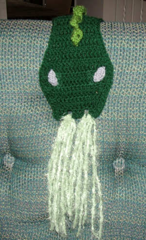 Green Dragon Scarf - Sneaking up on you!