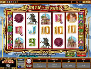 Days of the Tsar slot game online review
