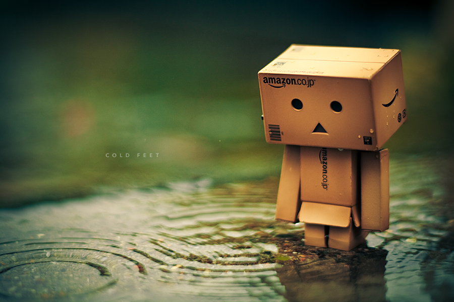 Danbo getting cold feet.