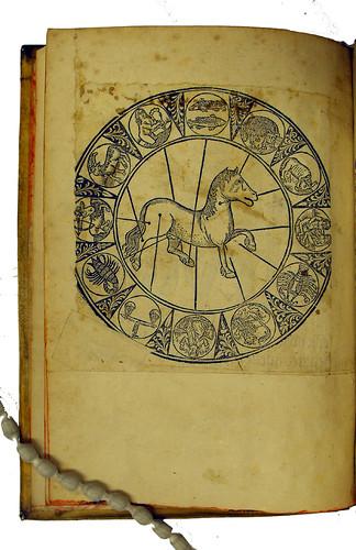 Woodcut chart in Diaz, Manuel: Llibre de menescalia. Libro de albeyteria