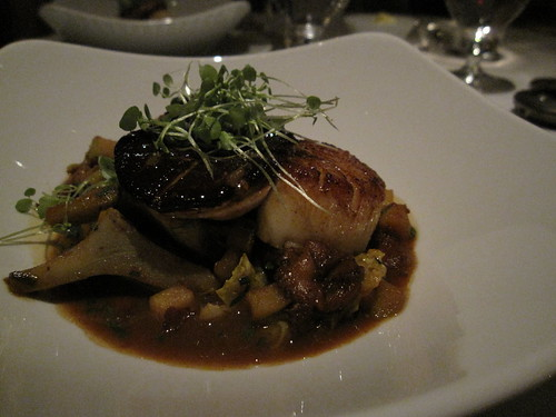 foie gras and scallops