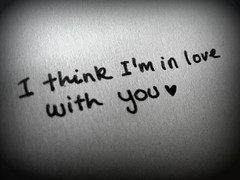 I think I'm in love with you (asturian-dreams) Tags: white black love typography with you think i