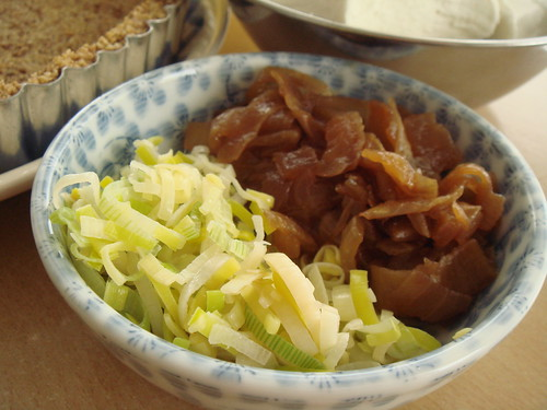 Sauteed Leeks and Caramelized Onions