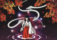 Kikyou (InuPlace) Tags: wallpaper inuyasha kikyou