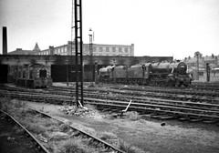 Bolton Lancashire 29th June 1968 (loose_grip_99) Tags: england train geotagged blackwhite diesel noiretblanc shed engine railway steam lancashire bolton depot locomotive 1968 mpd britishrailways lyr black5 uksteam shunters 44781 drewry gassteam endofsteam geo:lat=53563763 d2234 d2226 d2224 geo:lon=2416949 d2227