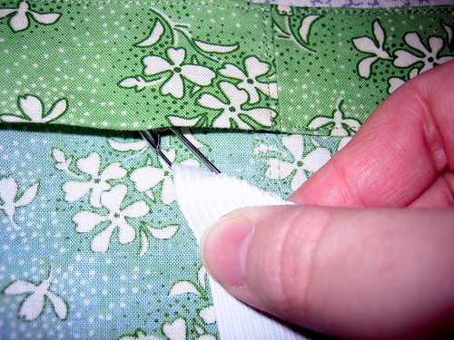 Elastic Waistband with Casing--inserting elastic into casing