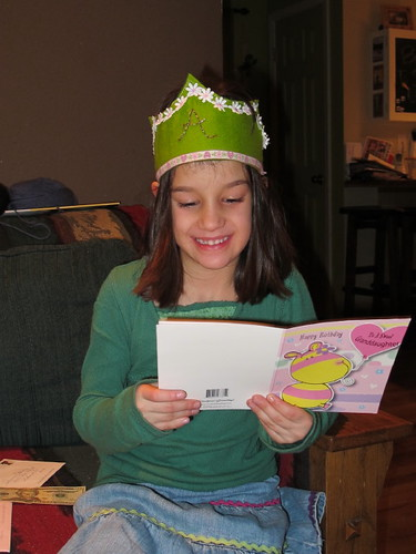 Reading birthday cards