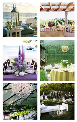Minimize the heat of the sun and set up your reception tables beneath an