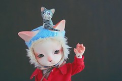 goodbye (oso_polar) Tags: trip red fish hat cat leaving golden handmade coat type bjd goodbye baha heero tapioka pipos joutney aviatot