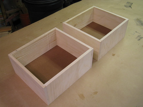 drawer boxes glued up