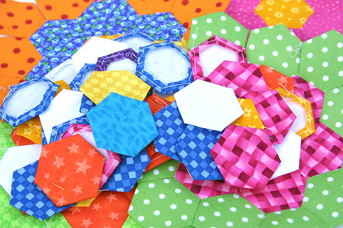 Grandmother's Flower Garden Hexies
