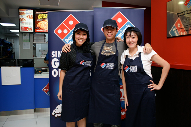 Domino's held a blogger-only launch event