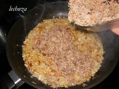 Lasaña de grelos-añadir carnes +