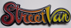 Dodge StreetVan emblem - 1971 (baga911) Tags: auto street door bus car metal truck logo mark badge decal chrysler van script hippi