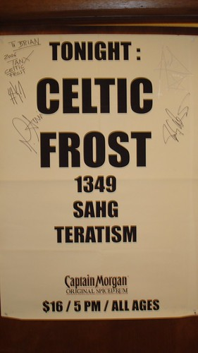 09/24/06 Celtic Frost @ Minneapolis, MN (Poster Autographed by all 4 Members of Celtic Frost)