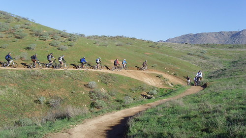 36 riders on the trail