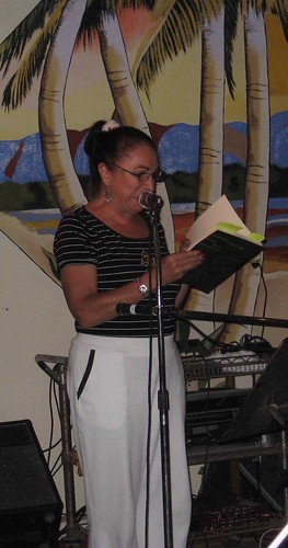 Gabriela reads poetry