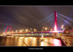 Willemsbrug (DolliaSH) Tags: city longexposure bridge light urban haven color water colors architecture night canon reflections river puente photography lights noche photo rotterdam topf50 europe foto nightshot suspension photos nacht harbour tripod wideangle illuminated ponte explore most le pont wired brug maas brcke topf100 frontpage ultrawide nuit 1022mm notte stad 1022 willemsbrug noordereiland noch zuidholland brucke rijnmond rotjeknor nachtopname visitholland canoneos50d detailsenhancer dollia dollias sheombar dolliash
