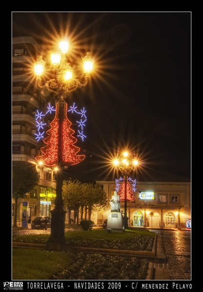 Torrelavega - Avenida Menendez Pelayo - Navidades 2009