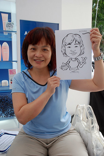 Caricature live sketching for Biotherm Roadshow Loreal - 7