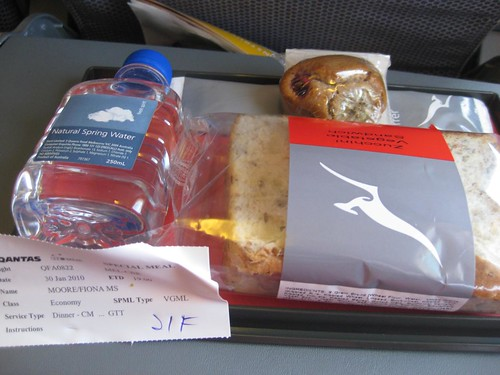 Qantas Vegan Meal