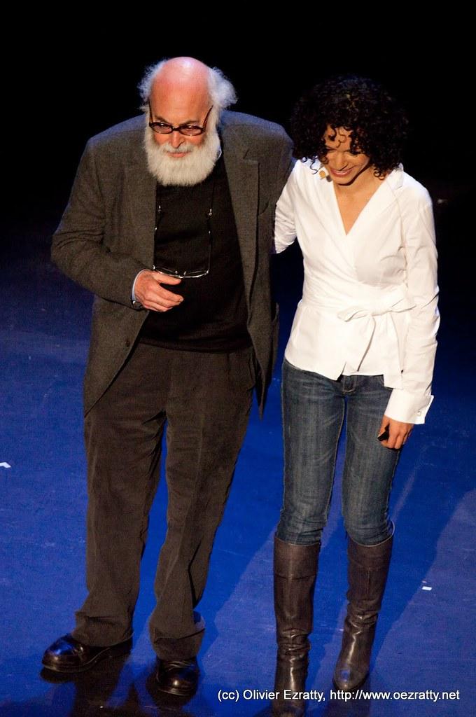 Sarah et Alphonso Kaminsky à TEDx PARIS, le 30 janvier 2010 à lEspace Pierre Cardin