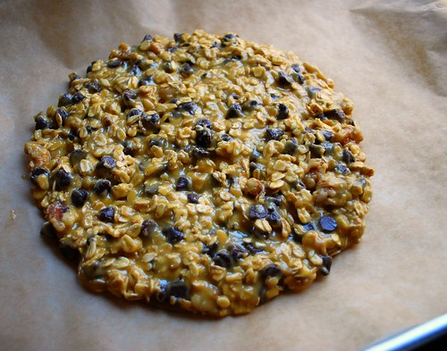 Oatmeal Choc Chip Pizza Cookie uncooked