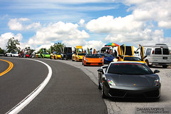 Lamborghinis. (Damian Morys Photography) Tags: new york crazy rainbow colorful anniversary group fast spyder exotic stop rest diablo 25th lamborghini coupe supercar vt countach gallardo lineup roadster murcielago lp640 lp5604