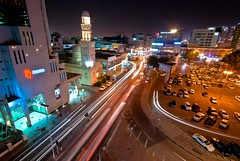 Manama By Night (Ogiecute) Tags: night landscape bahrain shoot traffic manama