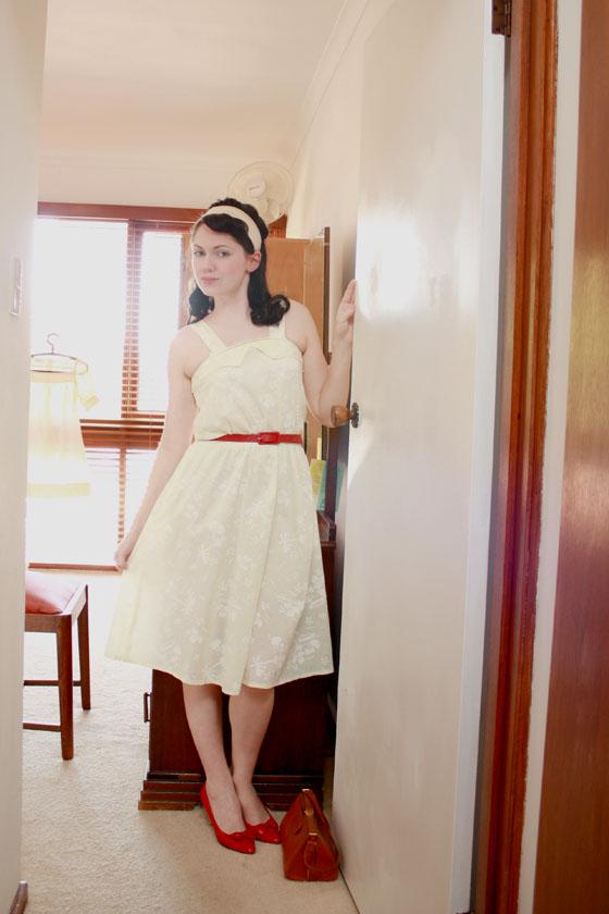 yellow summer dress7