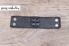 pulseira-croco-preta (Pinq Industry) Tags: leather pedra couro