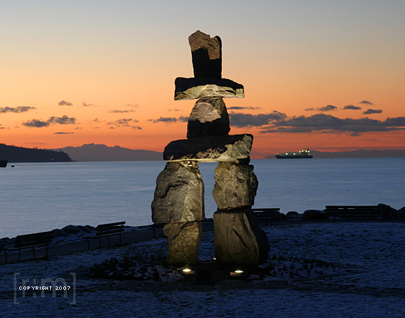 English Bay Inukshuk