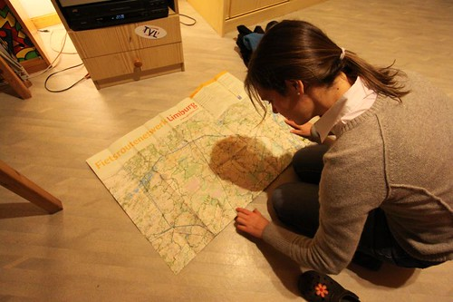 Studying tomorrow's route north...