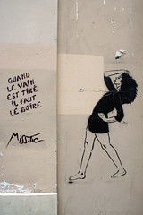 Quand le vain est tir il faut le boire (dprezat) Tags: street paris art painting tag graf peinture bombe pochoir misstic arosol sonyalpha700