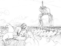 WIP Sea Lion Dream - Rough sketch 4
