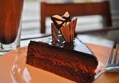 Happy Endings (Bhavna Saluja) Tags: food coffee cake dessert sweet bokeh chocolate pastry layers melt hazelnut whitechocolate garnish dps d60 happyendings chocolicious chocolatetoppings foodphotographydesserts