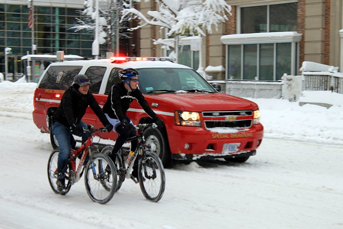 Cyclists and DC Fire in the Snowmageddon