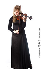 Violinist (i_zhorov) Tags: girls portrait musician woman brown playing beautiful beauty closeup female hair person one performance arts young melody musical blond violin sound instrument performer violinist isolated caucasian soloist