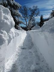 snow blower magic (karma (Karen)) Tags: winter home vanishingpoint maryland baltimore blizzard